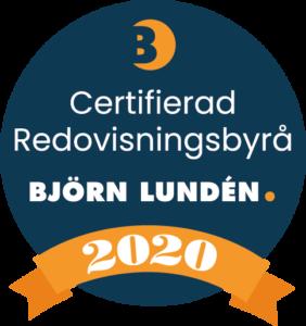 Avanta Ekonomi är en Certifierad Redovisningsbyrå av Björn Lundén året 2020.